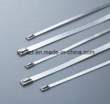 Bloqueo automático de cable de metal de acero inoxidable amarres Zip