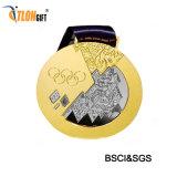 В Канаде золотистый цвет и дизайн медаль