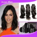 100%の人間のペルーのバージンの毛の自然な波の毛は卸しで束ねる