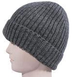 Chapeau de tricotage de crâne giflé par plaine faite sur commande ample de chapeau de Beanie de Slouch de Beanie d'OEM de l'hiver de Mens