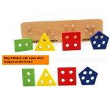 4 gesetzte hölzerne Farben-Form-Anerkennungs-Kind-pädagogische Block-Spielwaren für Kleinkind