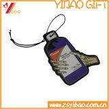 Ambientador de aire de encargo del papel de la dimensión de una variable de la venta caliente/ambientador de aire del coche con la tarjeta de papel