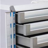 4 - выдвижные ящики металлический шкаф для блокировки с Memo Бар Silver