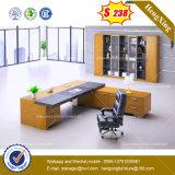 Tableau en acier droit /Desk (HX-8NE021C) de bureau en verre Tempered de patte en métal