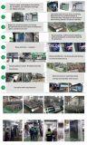 バス停の避難所を広告する屋外広告の金属