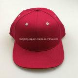 Seis de sarga de algodón rojo de Panel Plano Snapback sombrero pico
