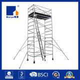傾向がある梯子3.8m/5mが付いている二重幅の足場