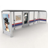 ベンチが付いている新しいデザインステンレス鋼のバス停の避難所