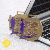 Marathon de ruban personnalisé de haute qualité des médailles