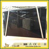 Черный Nero Marquina мраморным полированным большой слой для пол/Оформление/лестницы/Асфальтирование/стены/место на кухонном столе/зеркала в противосолнечном козырьке/кухня и ванная комната/блок радиатора/стиральные/бассейнов
