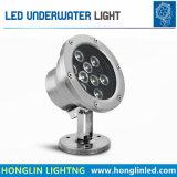 1W 3W 6W 9W 12W 18W de acero inoxidable IP68 LED Iluminación subacuática sumergibles