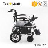 Sedia a rotelle motorizzata di piegatura elettrica di alluminio leggera medica