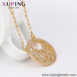42887 Xuping Moda Color Oro 18K Primary-Secondary Necklace