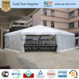 Paredes claras de Grande Capacidade Circo Octagon Marquee tenda com decorações forros de Polígono