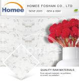 Mattonelle di mosaico di vetro bianche di arte del chip 75X300mm della decorazione della cucina