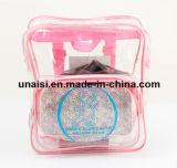 승진 명확한 PVC는 케이스 책가방 투명한 장식용 부대를 전송한다