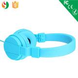 多彩な携帯用Foldableワイヤーで縛られた高品質のヘッドホーン