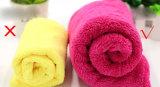 極度の吸収の低いMOQの珊瑚の羊毛の毛タオルを厚くしなさい