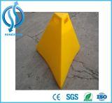 cone verde elevado da pirâmide do PE de 900mm para a segurança de estrada