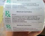 Imperméable personnalisée en usine dispensaire médical flacons étiquette pop
