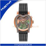 De hart Gestalte gegeven Band Van uitstekende kwaliteit van het Silicone van het Horloge van de Juwelen van het Roestvrij staal