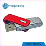 ねじれのプラスチックUSB 2.0 USBのフラッシュディスク