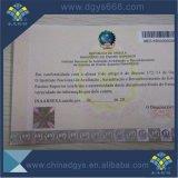 Boleto invisible ULTRAVIOLETA de la cupón del papel de la filigrana de la impresión