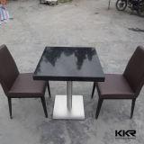 黒い固体表面の食事の家具表セット