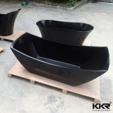 Supplier Bath Black Freestanding Stone Bathtub clouded