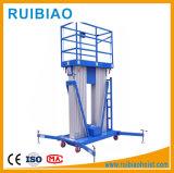 Aleación de aluminio tijera elevar la plataforma de trabajo con gran cantidad