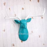 수지 벽 커튼 3D 인공적인 동물성 사슴 헤드 훈장