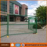 Recubierto de PVC de color naranja Panel valla temporal en Canadá