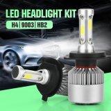 Светодиодная автомобильная фара S2 H4 COB Автомобильная подсветка 8000lm 72W Светодиодная фара