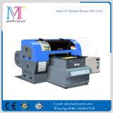 De UV Printer van Inkjet (telefoongevallen/plastiek/leer/glas/zwart materiaal)