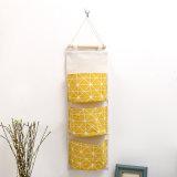 Hogar creativo Funda de algodón resistente al agua colgando Multi-Storey Bolsa de almacenamiento de desechos de tela