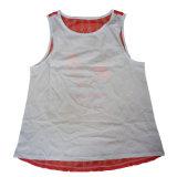 Der Frauen Stutzen-beiläufige Shirt-Weste-Oberseiten des Sommer-Silk Trägershirt-Dame-Blusen-Ineinander greifen-netter Sleeveless Normallack-O