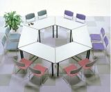 Haltbare Büro-Sitzungs-Plastikschreibtisch mit Stuhl