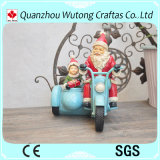 Manualidades de Navidad personalizadas de resina de la Motocicleta de Santa Claus Decoración