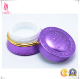 クリームのための紫色の装飾的な美の瓶