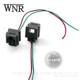Plástico Wnre 6p4c RJ45 Cable con conector RJ11