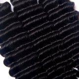 Venda por grosso de extensão de cabelos humanos brasileiros não transformados onda profunda