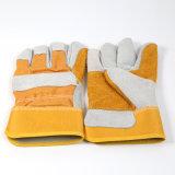 分割された革靴は短い袖口標準的な革作業手袋をゴム加工した