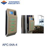 壁に取り付けられたリモート・コントロール携帯電話充満端末APC-04A-4