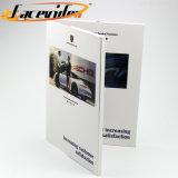 Disegno di modo manuale d'istruzione di pubblicità portatile dell'automobile di libro di 7 di pollice del documento delle video schede media del giocatore video con la busta tagliata