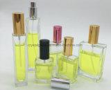Frasco de perfume de vidro quadrada com tampa do pulverizador e aceitar OEM