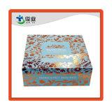 Magnético plegable personalizado Estampado en Caliente de oro de color azul de patrón de cajas de regalo