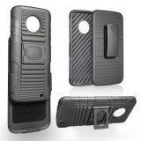 Kickstand Hochleistungs-TPU PC Schlag-Beweis-Riemen-Klipp-Pistolenhalfter-kombinierter Kasten für Motorola G6 plus