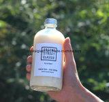 Freier Raum u. Frost-runde Glasmilch-Kaffee-Flasche mit Schraubverschluss-