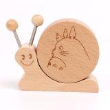 Caixa de música de desenhos animados para Bebé em madeira de forma Animal de brinquedos educativos para crianças