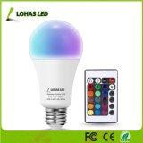 16 couleurs changeant Magic 10W E26 E27 B22 RGBW Lampe infrarouge pour télécommande